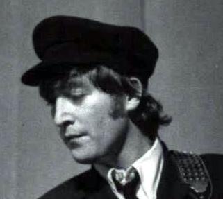 John Lennon's cap on stage