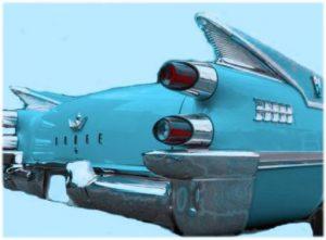 Dodge blue fins